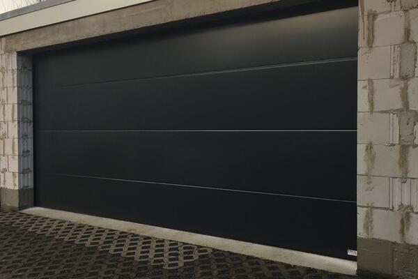 conDoor Garagentor RAL 7016 anthrazitgrau ohne Sicke glatt 4980 x 2270 mm