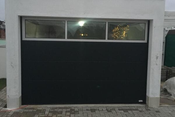ConDoor Design-Line Antra RAL 7016 anthrazitgrau mit Fenstersektion oben