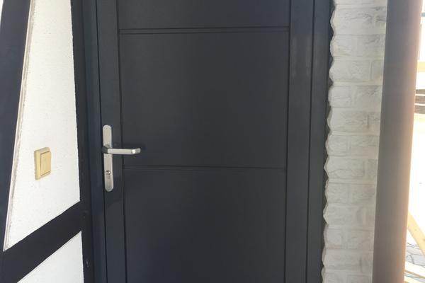 ConDoor Nebeneingangstür RAL 7015 schiefergrau ohne Sicke glatt 865 x 2070 mm